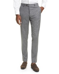 Eleventy Stripe Wool Cotton Dress Pants