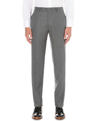 Canali Tailored Fit Straight Super 120s Wool Trousers