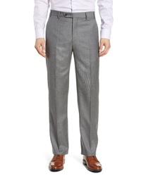 Zanella Todd Relaxed Fit Solid Wool Trousers