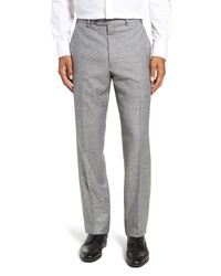 John W. Nordstrom Traditional Fit Solid Wool Trousers