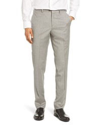 Nordstrom Men's Shop Trim Fit Flannel Wool Dress Pants