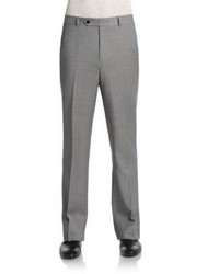 Tommy Hilfiger Trim Fit Sharkskin Wool Pants