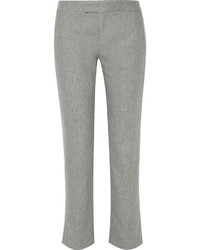 Rag & Bone Winnie Wool Blend Flannel Straight Leg Pants Gray