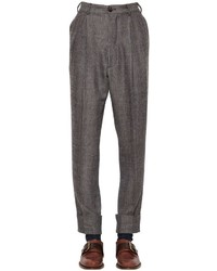 Vivienne Westwood Wool Cotton Herringbone Pants