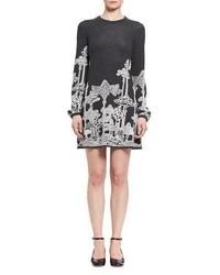 Chloe dreamscape merino wool minidress medium 4983848