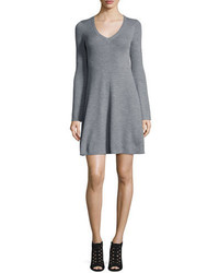 Althea merino wool v neck sweater dress medium 851583