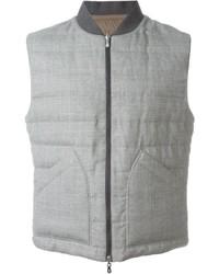 Brunello Cucinelli Padded Contrast Detail Sleeveless Jacket
