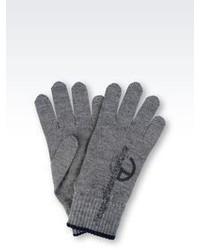 Armani Collezioni Glove In Wool Blend With Logo