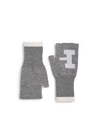 Band Of Outsiders Atari Combat Fingerless Wool Gloves Heather Grey
