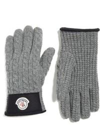 Moncler Cable Knit Wool Cashmere Gloves