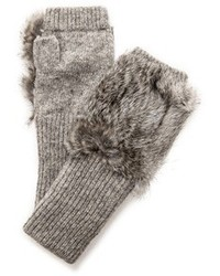 Fur knit fingerless gloves medium 105465