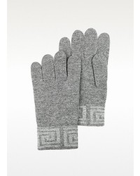 Versace Greca Logo Wool Blend Gloves