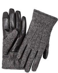 Merona Herringbone Smart Touch Gloves Blackgrey