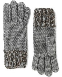 Brooks Brothers Marled Wool And Alpaca Gloves