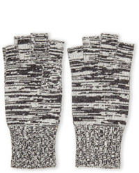 Portolano Melange Fingerless Knit Gloves