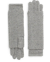 Saks Fifth Avenue BLACK Popcorn Stitched Knit Arm Warmer Gloves
