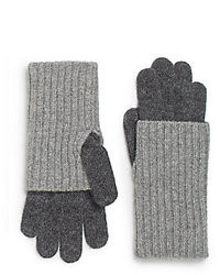 Saks Fifth Avenue BLACK Ribbed Knit Gloves