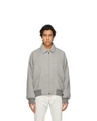 Grey Wool Harrington Jacket
