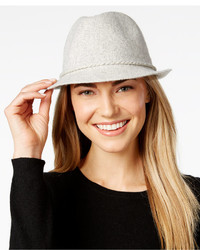 August Hats Festive Folk Marled Knit Fedora