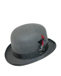 Dorfman Pacific Authentic Scala Derby Bowler Hat By Grey Large