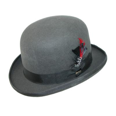 Dorfman Pacific Authentic Scala Derby Bowler Hat By Grey Large e2358b359a1