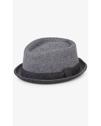Express Contrast Trim Wool Fedora