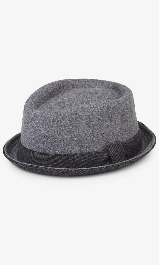 ... Hats Express Contrast Trim Wool Fedora ... 4bb2a75db53