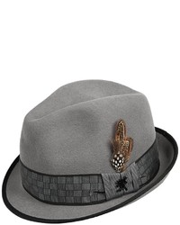 Stacy Adams Fedora Hat With Square Print