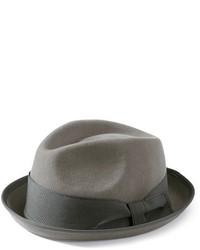 San Diego Hat Company Felt Snap Brim Striped Fedora