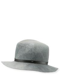 Rag & Bone Floppy Felt Fedora Hat Gray Swirl
