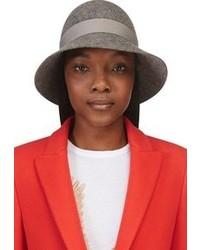 Stella McCartney Grey Felted Wool Bow Hat