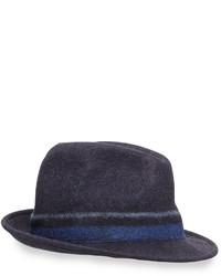 Paul Smith Punch Stripe Wool Trilby Hat