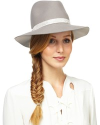 ... Rag and Bone Rag Bone Grey Snakeskin Wool Fedora Hat ... a3228d6793e