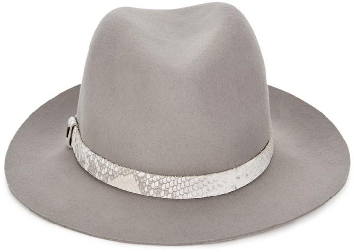 ... Rag and Bone Rag Bone Grey Snakeskin Wool Fedora Hat ... 4bd0e458f17