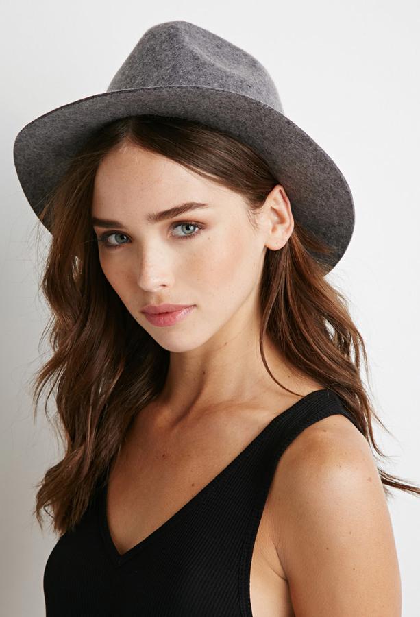 ... Hats Forever 21 Raw Cut Brim Fedora ... c334dd2613f