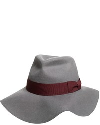 Specially Made Wool Felt Floppy Fedora Wide Brim With Raw Edge