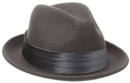 9ea22fda2e4 ... Stacy Adams Crushable Wool Felt Snap Brim Fedora Hat
