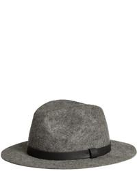 H&M Wool Fedora Hat Dark Gray