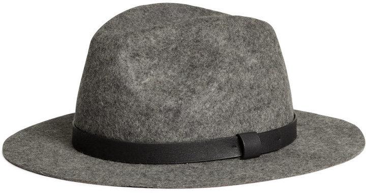 e25c5790a $24, H&M Wool Fedora Hat Dark Gray
