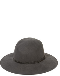 Rag & Bone Wool Felt Fedora Dark Gray