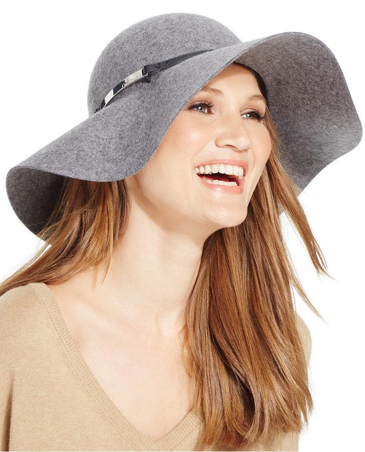 ... Grey Wool Hats Calvin Klein Wool Felt Floppy Hat ... 277f91909381
