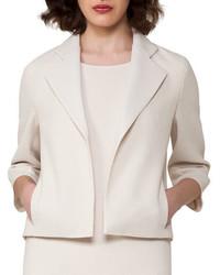 Bracelet sleeve cropped wool crepe jacket medium 3698309