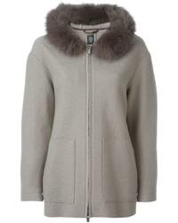 Eleventy fox fur collar jacket medium 654359