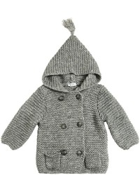 Il Gufo Hooded Wool Cotton Tricot Jacket