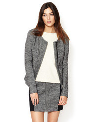 See by Chloe Wool Peplum Zip Up Jacket