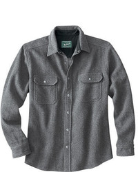 Grey Wool Long Sleeve Shirt