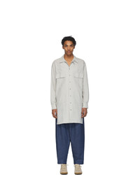 House Of The Very Islands Grey Long Buttoned Profit Shirt