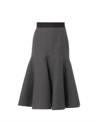 Lanvin Ribbed Wool Blend Midi Skirt