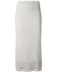 Victoria beckham layered knit midi skirt medium 341160