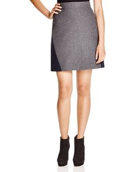 DKNY Color Block Mini Skirt